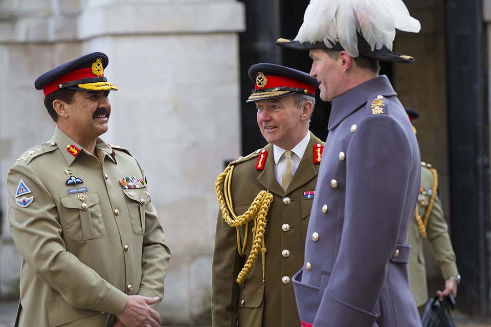 General Sharif with Chief of the Defence Staff General Sir Nicholas Houghton