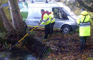 Environment Agency teams are out on the ground, ensuring flood defences are ready, rivers can flow freely and clearing trash screens.