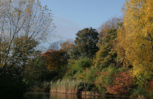 Trees changing to autumn colours in the popular Ward Jackson Park in Hartlepool
