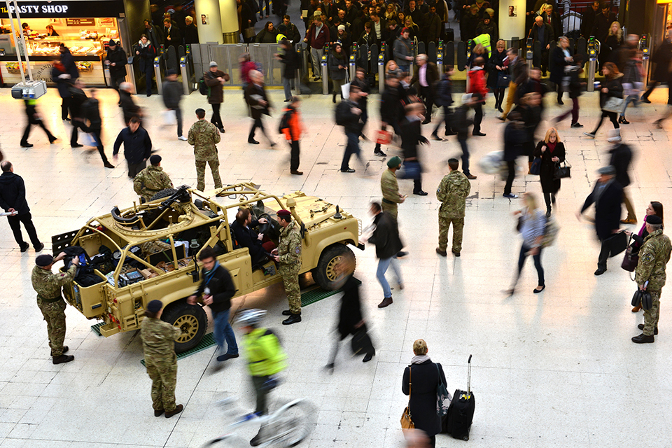 The British Army's new reserve recruitment campaign launched today with a special event at Waterloo Station
