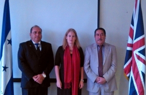 Ambassador Dickson and authorities from Honduras