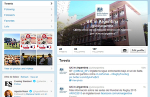 British Embassy's official account on Twitter