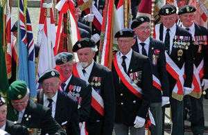 Veterans marching on parade.