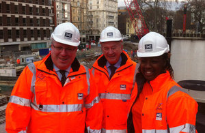 Patrick McLoughlin at Crossrail project