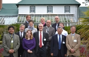Pan-American scientists in the Falklands