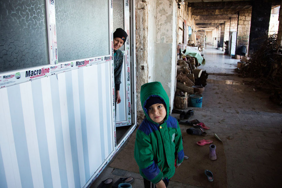 UK aid is helping improve unfinished buildings in northern Iraq, which are being used by thousands of displaced Iraqi families as emergency accommodation.