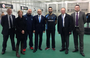 Culture Secretary Sajid Javid at Sussex County Cricket Club