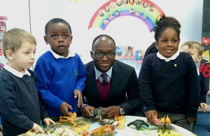 Sam Gyimah in Toddles Wood