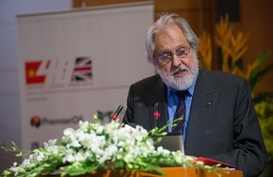Lord Puttnam, the UK Prime Minister's Trade Envoy to Burma, Cambodia, Laos and Vietnam