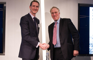 Bjorn Conway from Ernst and Young and Minister for Reserves Julian Brazier [Picture: Crown copyright]