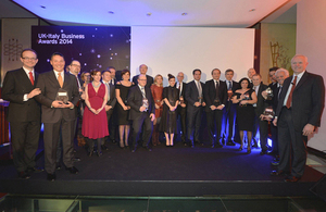 UK-Italy business awards winners