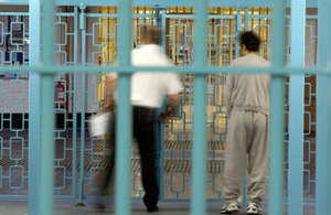Photograph through prison bars