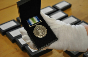 New medals as part of the review Sir John Holmes independent medal review 2014