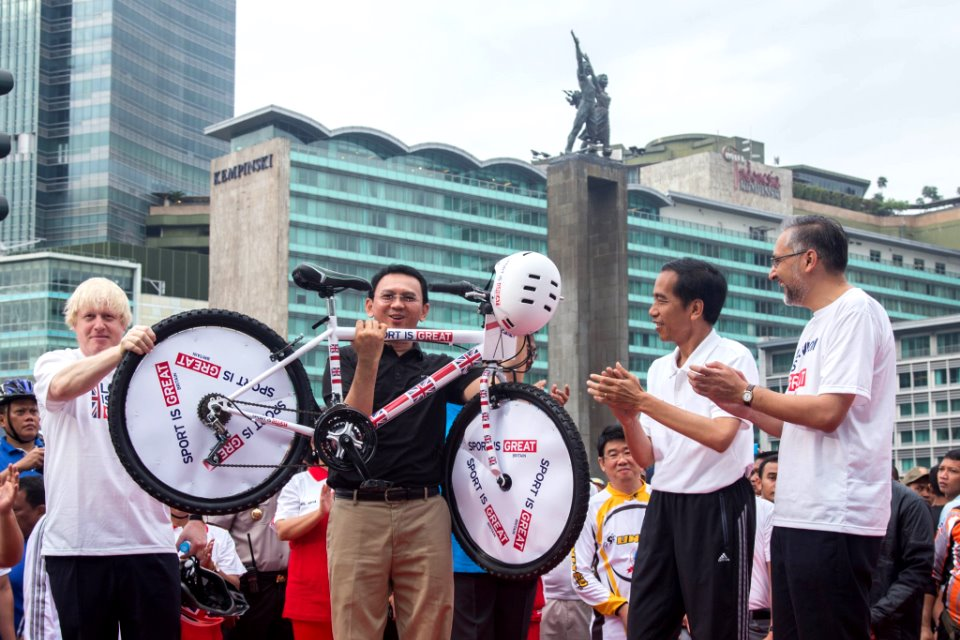 Bicycle hand-over ceremony to the Jakarta Provincial Government