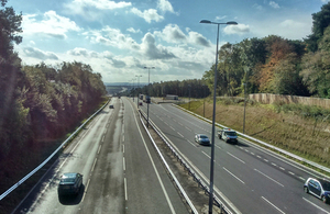Work to upgrade the A23 near Gatwick Airport was completed successfully in October
