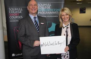 Esther McVey and Solihull College Principal John Callaghan