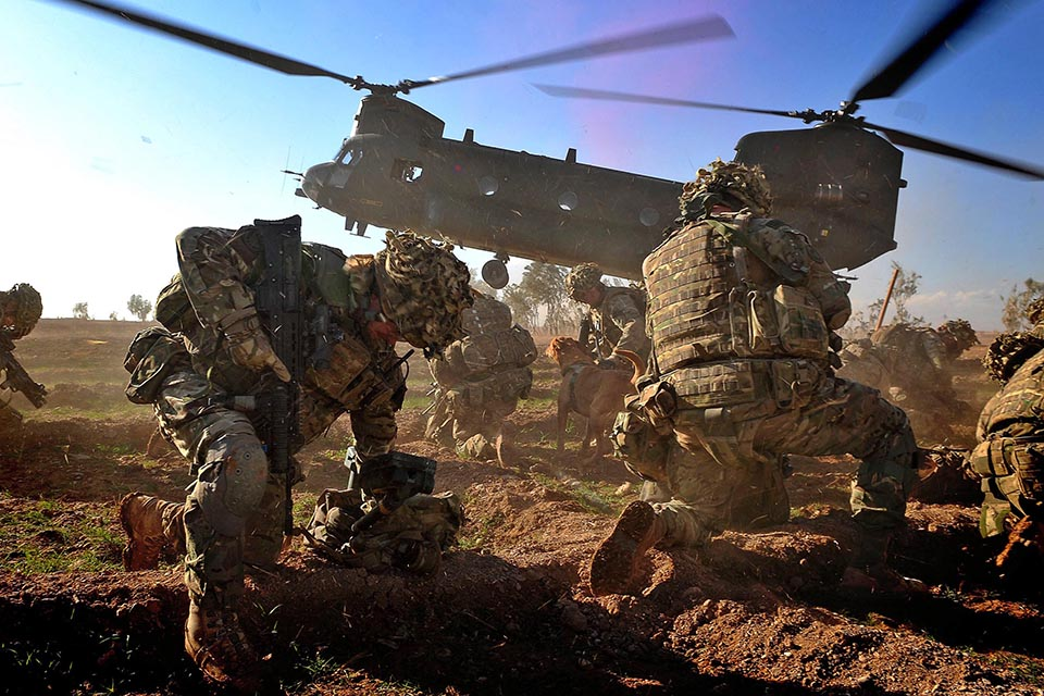 Royal Marines from Alpha Company, 40 Commando