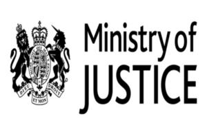 Ministry of Justice logo.
