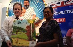 Minister Hugo Swire donated books to the Jaffna Library