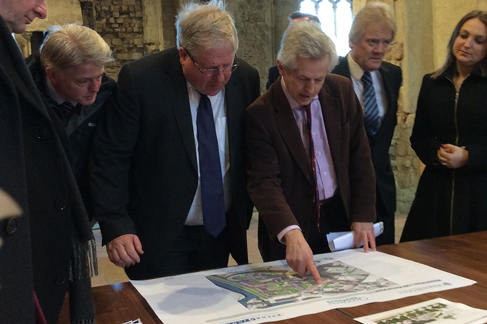 Patrick McLoughlin attends a planning meeting.
