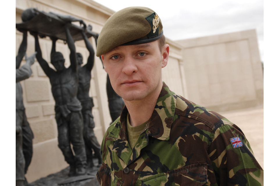 Acting Sergeant Michael Lockett MC [Picture: Stuart Bingham] (All rights reserved.)