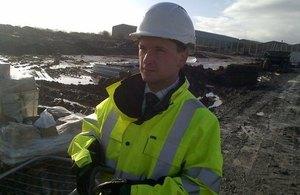 Alun Cairns MP visiting Wrexham Prison site