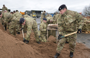 The service level agreement will see prisoners making sandbags and other support products for Britain's armed forces [Picture: Sergeant M O'Neill RLC, Crown copyright]