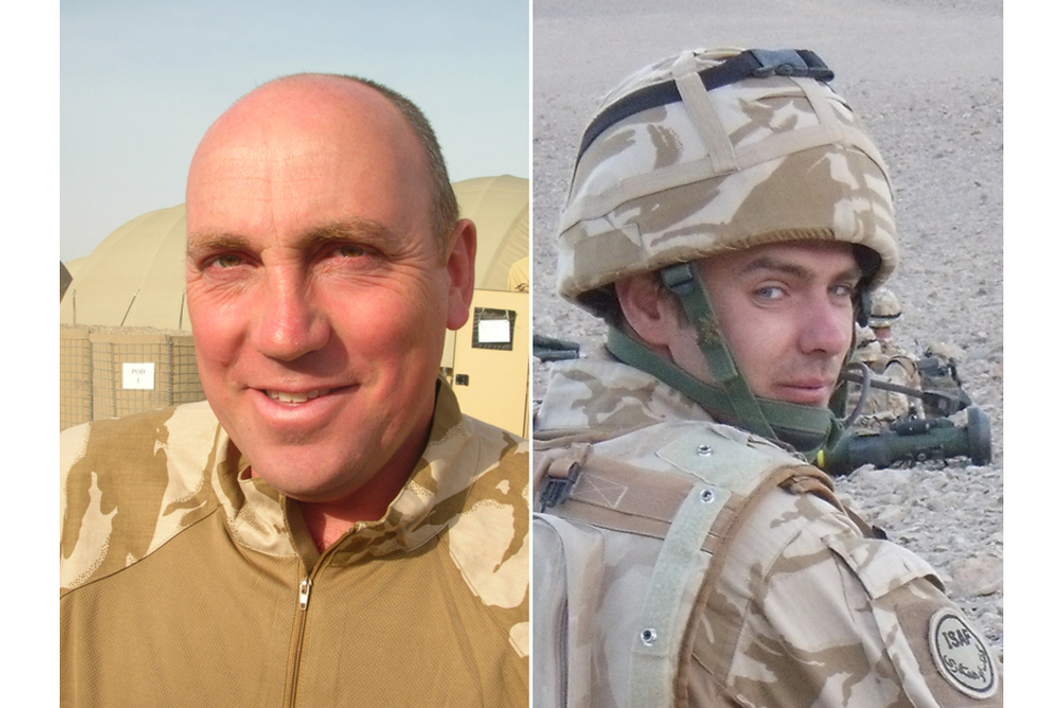Sergeant Stuart Millar (left) and Private Kevin Elliott
