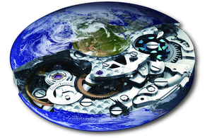 picture of an earth clock