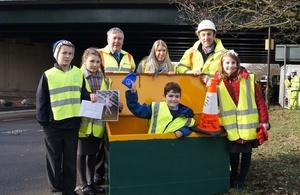Time capsule at M5 Gloucester Painswick Bridge