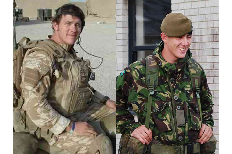 Serjeant Paul McAleese and Private Johnathon Young
