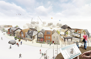 Image of a mix of homes proposed for the custom build site at Trevenson Park, Cornwall