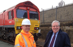Transport Secretary Patrick McLoughlin and Sunderland Port Director Matthew Hunt