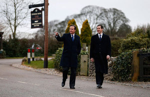 PM and Chancellor on the set at Emmerdale
