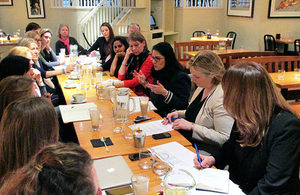 Priti Patel with local business women