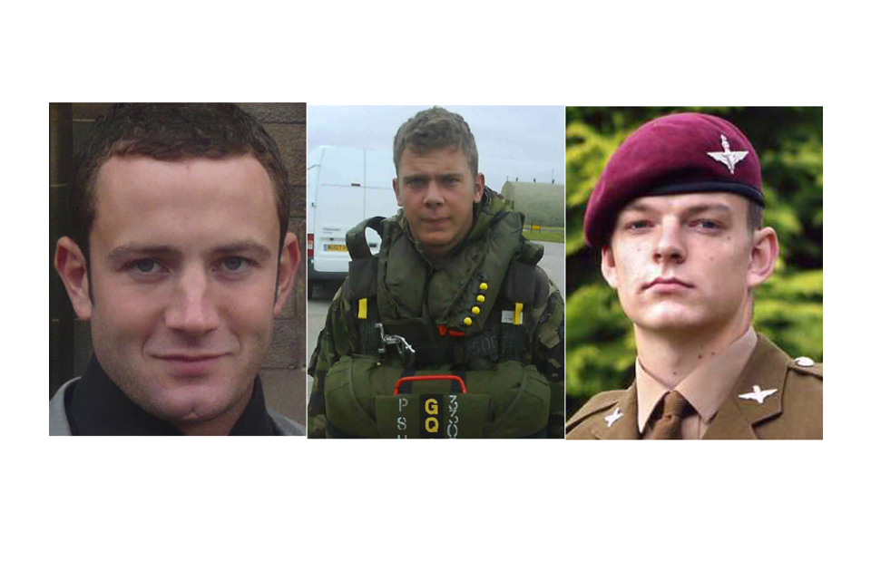 Corporal Kevin Mulligan, Lance Corporal Dale Thomas Hopkins and Private Kyle Adams (All rights reserved.)