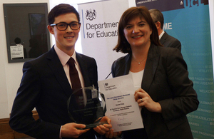 Nicky Morgan and award