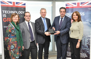 British Ambassador recognises Gamma Solutions investment in the UK