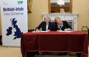 Home Secretary Theresa May and the Irish Minister for Justice and Equality, Frances Fitzgerald