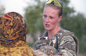 The study of women, peace and security is emerging as an important field of academic enterprise [Picture: Leading Airman (Photographer) Dave Hillhouse, Crown copyright]