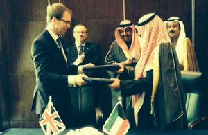 Mr.Tobias Ellwood MP and Ambassador Khaled Al-Jarallah