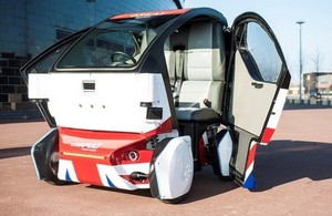 An image of the Lutz driverless pod that will be tested in Milton Keynes later this year