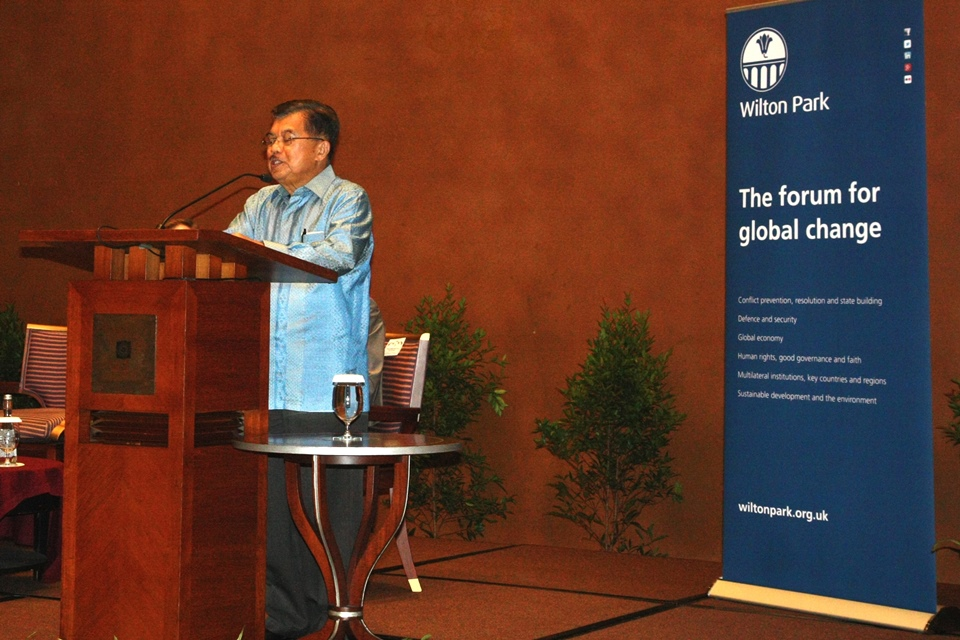 Indonesian Vice President Jusuf Kalla addressed the concluding session of the conference