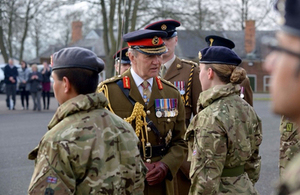 General Sir Nicholas Houghton inspects reserves passing out at ATR Grantham [Picture: Corporal Andy Reddy, Crown copyright]