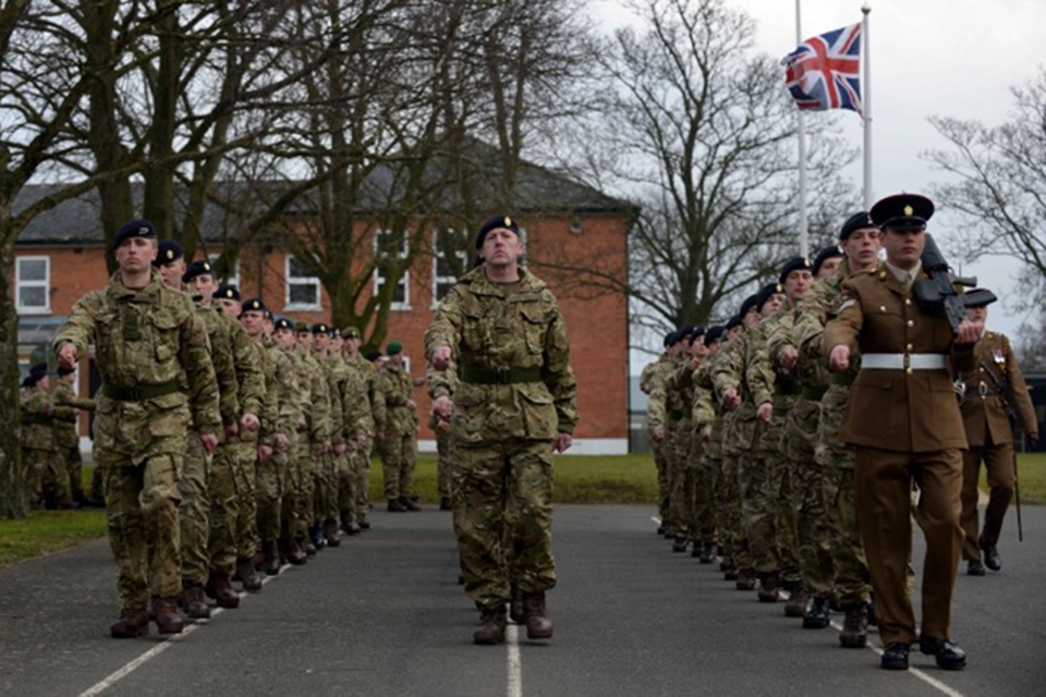 Army reserves pass out at Army Training Regiment Grantham