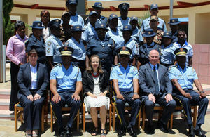 Course participants with High Commissioner Marianne Young, course facilitators and Senior officers of Nampol