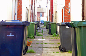 road of bins