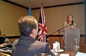 HMA Sarah Dickson at seminar