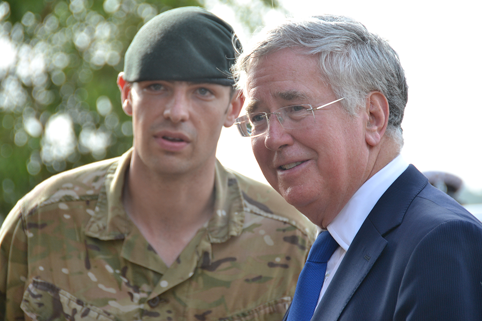 Defence Secretary meets troops fighting Ebola in Sierra Leone