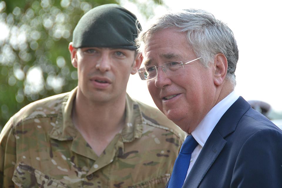Defence Secretary meets troops fighting Ebola in Sierra Leone